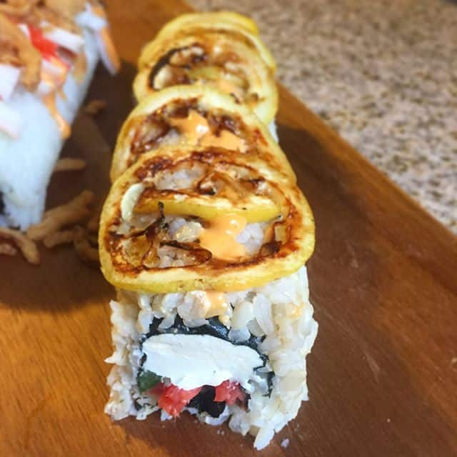 Smoked Salmon Sushi Roll Flypeachpie