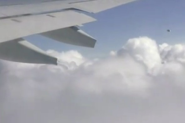 Un OVNI filmé par un passager d'un avion de KLM