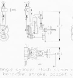 as mentioned i decided to try to design and build an even smaller engine and monotube the engine is 5 mm bore x 5 mm stroke uniflow the monotube is 7  [ 2304 x 1824 Pixel ]