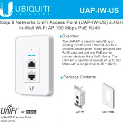 ubiquiti networks unifi in wall wi fi access point 2 4ghz uap iw us 802 11n 150mbps [ 1000 x 1000 Pixel ]