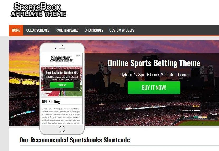 wordpress sportsbook themes