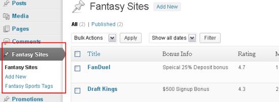 fantasysports post type