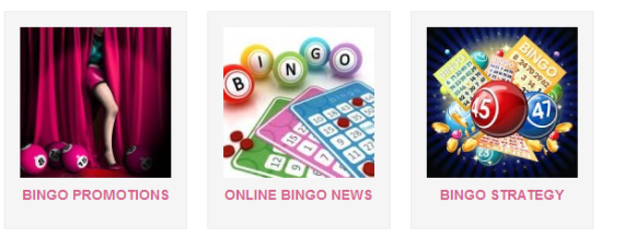 bingo menu in page