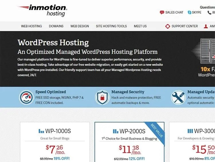 top hosting companies for WordPress