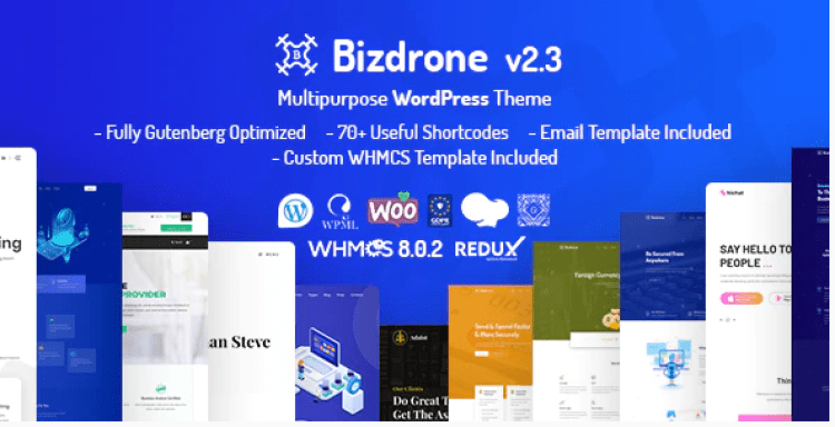 Bizdrone-ICO-Crypto-Landing-Cryptocurrency-WordPress-Theme​-with-whmcs-Template