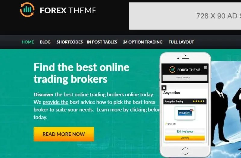 Forex theme - one of the best wordpress themes for affiliate marketing