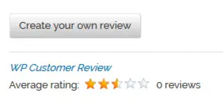 WP Customer review