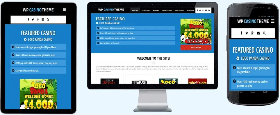 wpcasino gambling themes for wordpress