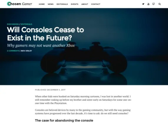 Orizon - a great free WordPress Gaming theme!