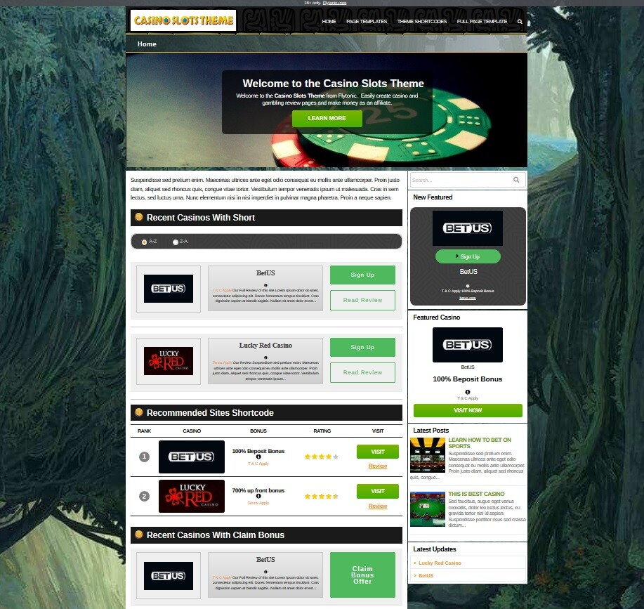 casino slot wordpress theme