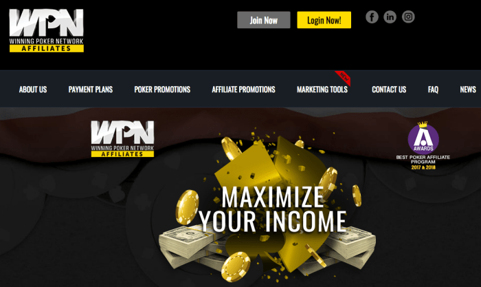 Winning Poker Network Affiliates – Poker Affiliate Marketing Program