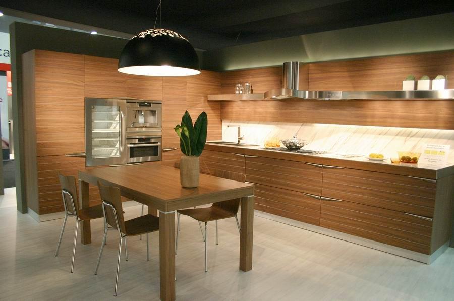 Fiera del mobile Bergamo stand cucine Snaidero