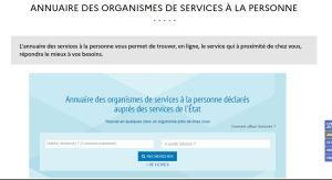 Page Accueil Annuaire Organismes SAP