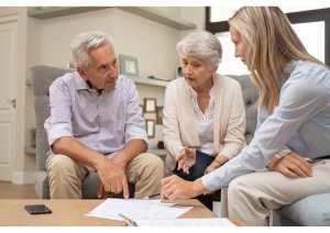 Couple avec Aide Administrative A Domicile