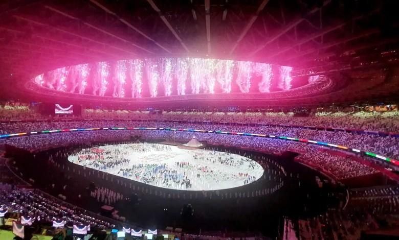 La cerimonia di inaugurazione dei Giochi Olimpici di Tokyo 2020 allo Stadio Olimpico di Tokyo (photo courtesy of Nexting)