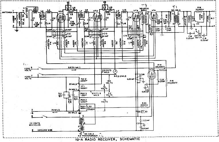 Band Pass TRF Radio Schematics