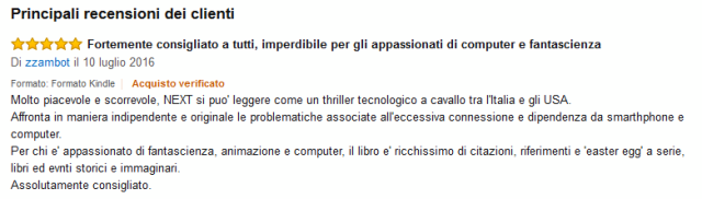 NEXT - recensione amazon #1