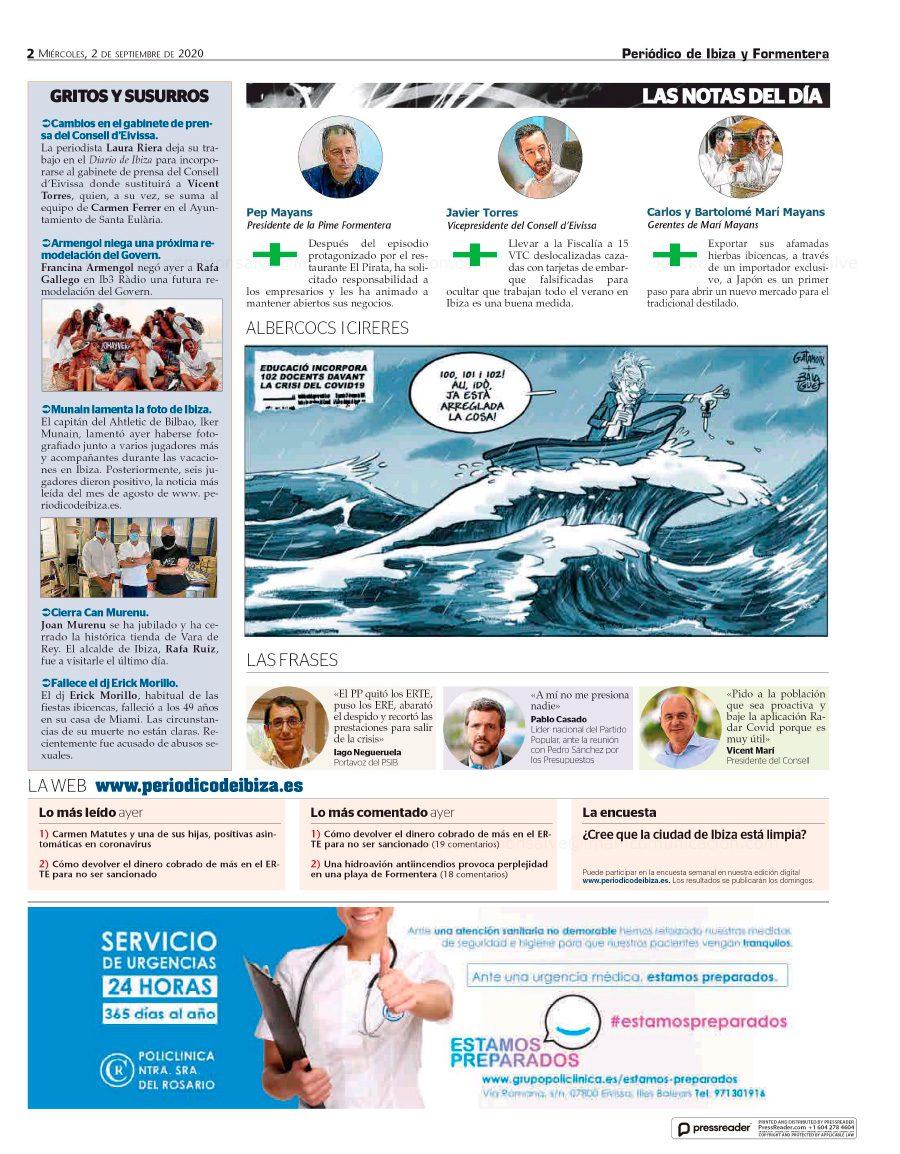 02/09/2020 - Periódico de Ibiza