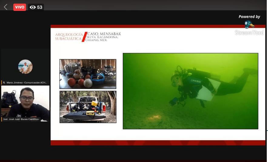 Arqueólogos y buceadores presentan avance de investigación subacuática de la selva Lacandona
