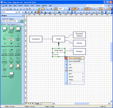 class diagram visio template kenwood kdc 255u wiring fmc tam stencils shapes for the fundamental modeling block example