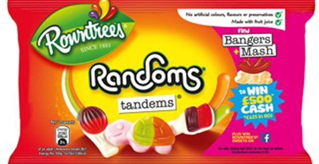 Find 'Bangers and Mash' in Rowntree's Randoms