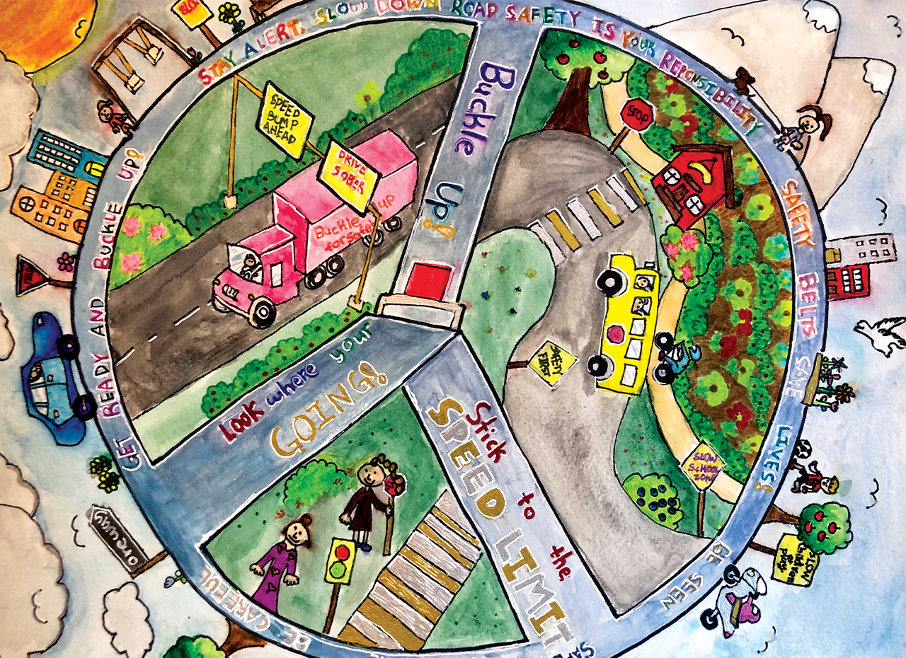road safety art contest past grand