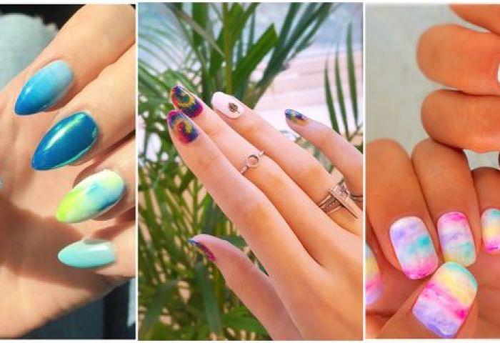 Uñas Tie Dye Descubre La Nueva Tendencia En Manicure