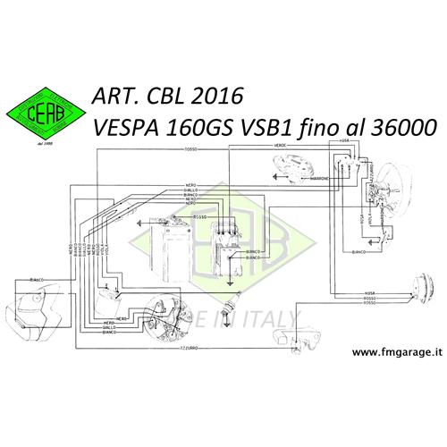 Cablaggio Impianto Elettrico per Vespa 160 GS (VSB1 con
