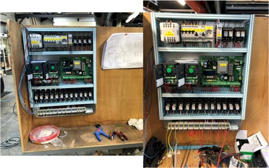 Fabrication et tests de coffrets de commande