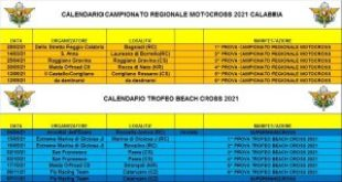 2021 Calendario Campionato Regionale Motocross e Beach Cross