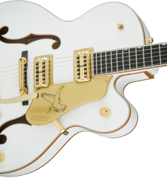 hollow body g6136t wht players edition falcon with string thru bigsby filter tron pickups white [ 2400 x 1441 Pixel ]