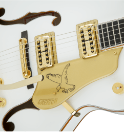 hollow body g6136t wht players edition falcon with string thru bigsby filter tron pickups white [ 2400 x 1602 Pixel ]