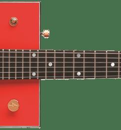 g6138 bo diddley g cutout tailpiece ebony fingerboard firebird red [ 2400 x 570 Pixel ]