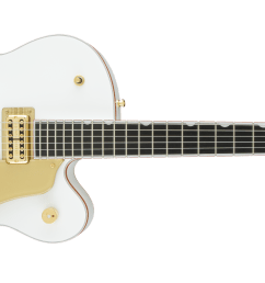 hollow body g6136t wht players edition falcon with string thru bigsby filter tron pickups white [ 2400 x 936 Pixel ]
