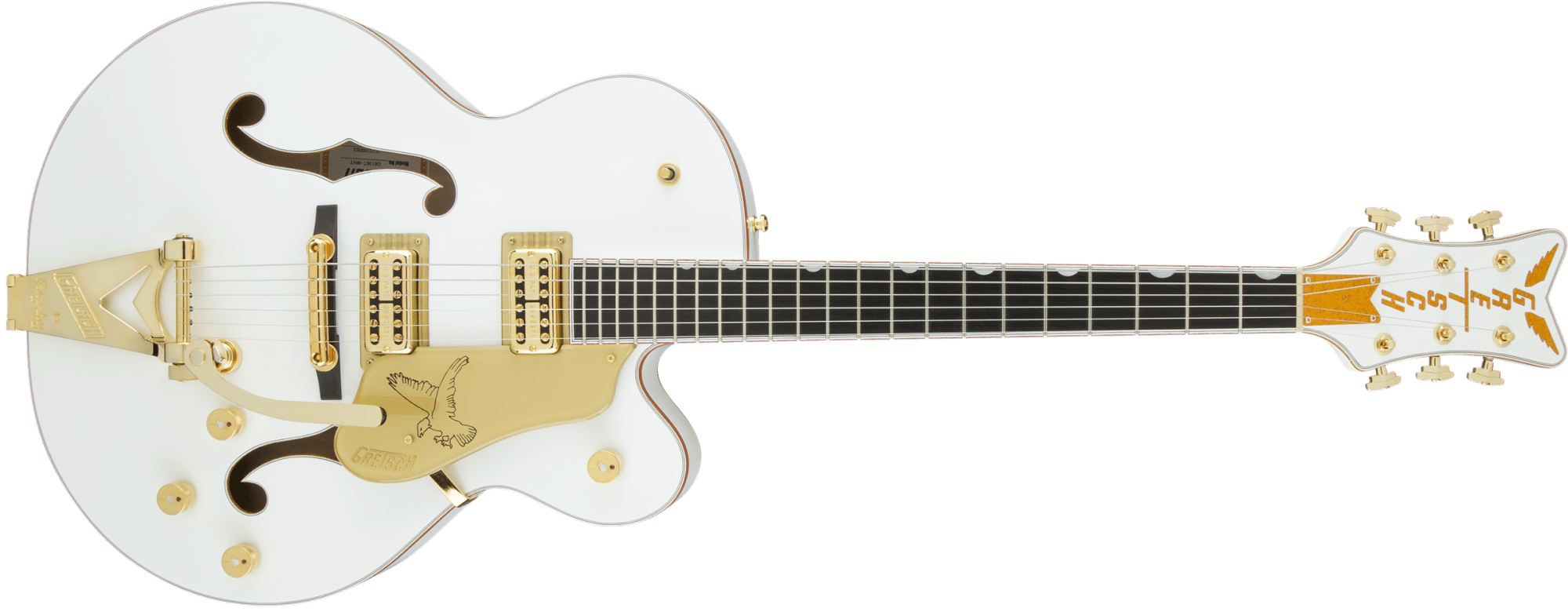 hight resolution of hollow body g6136t wht players edition falcon with string thru bigsby filter tron pickups white