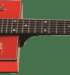 g6138 bo diddley g cutout tailpiece ebony fingerboard firebird red [ 2400 x 474 Pixel ]