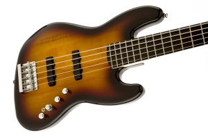 Squier® Deluxe Jazz Bass® V Active (5 String), Ebonol