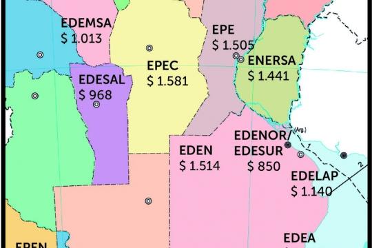 Las tarifas de luz de la provincia, entre las más caras del país