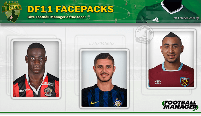 Football Manager 2017 Facepacks - DF11 Faces 2016-2017