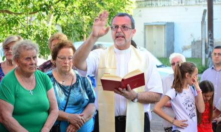 Reinauguración de la capilla San Roque en Barrio Argentino