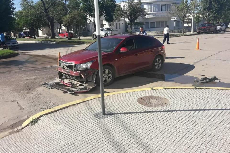 Accidente en zona céntrica