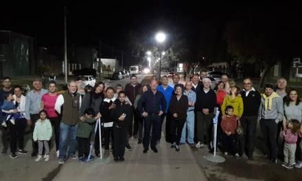 Inauguración de luces led en Bv. España