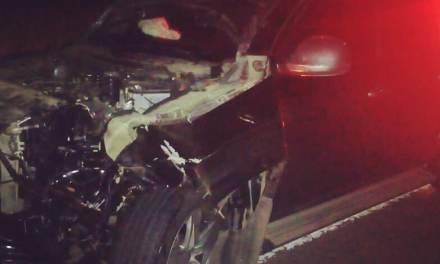 Accidente Ruta 158 – Camioneta colisiona a un Bovino