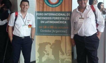 Bomberos de Cabrera en el Foro Internacional de Incendios Forestales en Latinoamérica