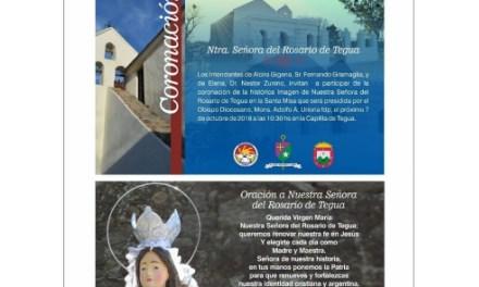 Coronación de la histórica imagen de Nuestra Señora de Tegua