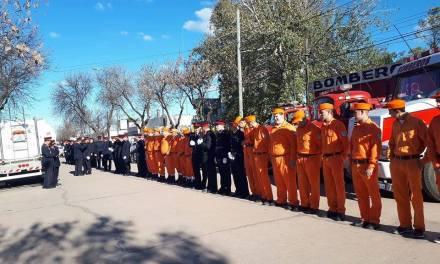 Bomberos acompañan el operativo de seguridad del Presidente