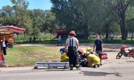 Accidente Ruta 158 acceso Norte