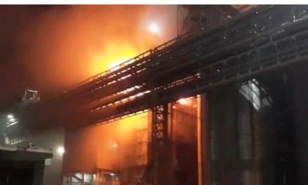 General Deheza . Incendio en una celda de girasol en AGD