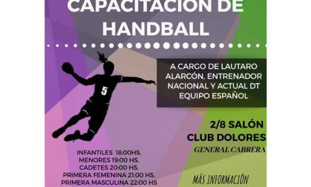 JORNADA DE CAPACITACIÓN DE HANDBALL