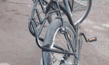 Alumno del Ipea lesionado al colgarse de un camión cuando iba en bicicleta